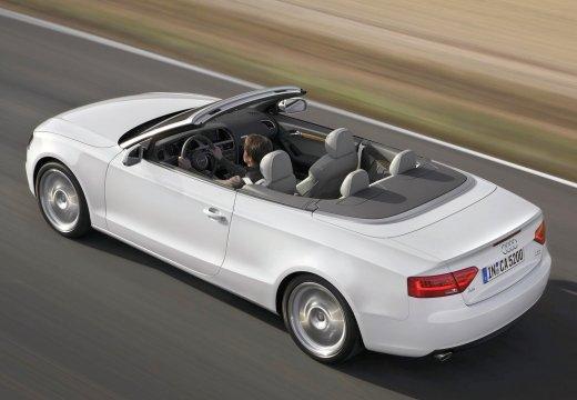 AUDI A5 II coupe biały tylny lewy