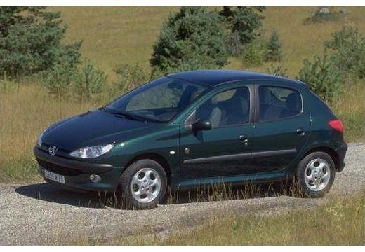 PEUGEOT 206 II hatchback zielony przedni lewy
