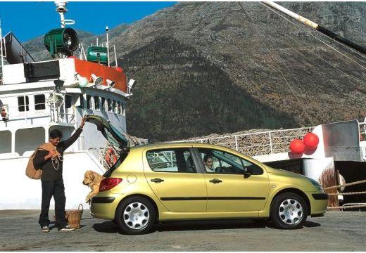 PEUGEOT 307 I hatchback złoty boczny prawy