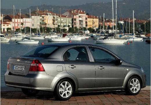 CHEVROLET Aveo II sedan silver grey tylny prawy