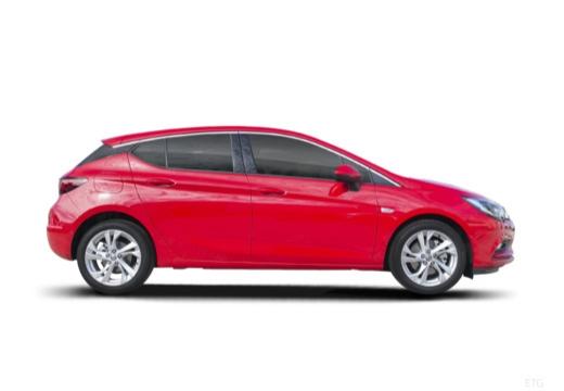 OPEL Astra V I hatchback czerwony jasny boczny prawy