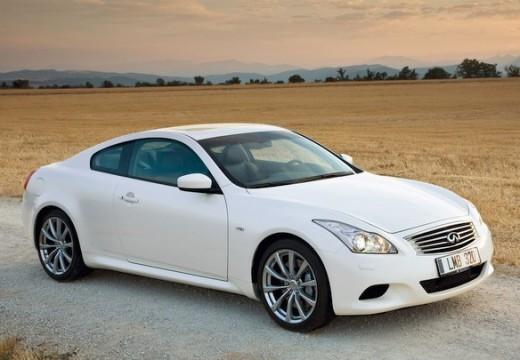 INFINITI G37 coupe biały przedni prawy