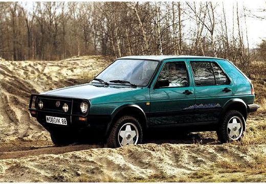 VOLKSWAGEN Golf II hatchback zielony przedni lewy