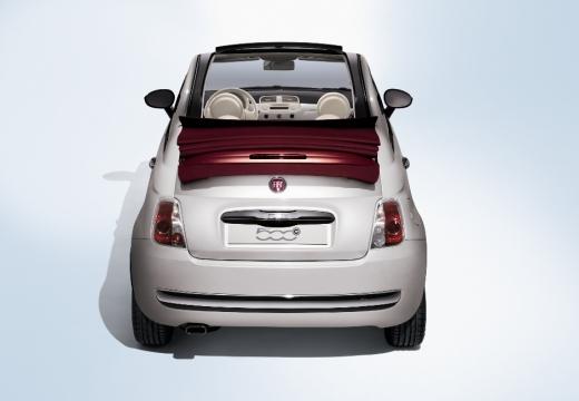 FIAT 500 kabriolet biały tylny