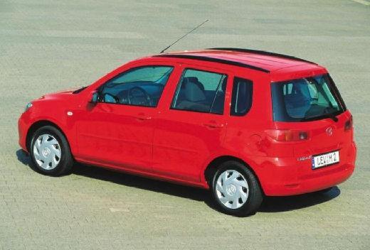 MAZDA 2 I hatchback czerwony jasny tylny lewy