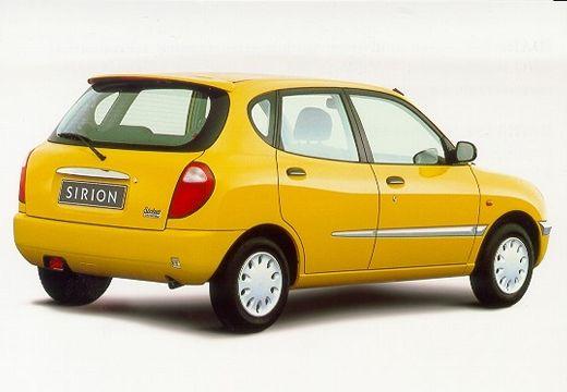 DAIHATSU Sirion hatchback żółty tylny prawy