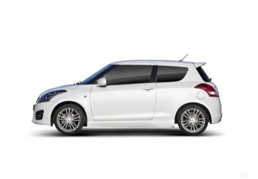 SUZUKI Swift II hatchback biały boczny lewy