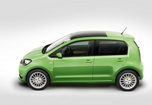 SKODA Citigo hatchback zielony boczny lewy