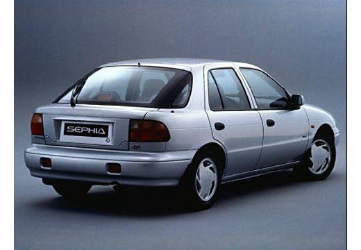 KIA Sephia hatchback silver grey tylny prawy