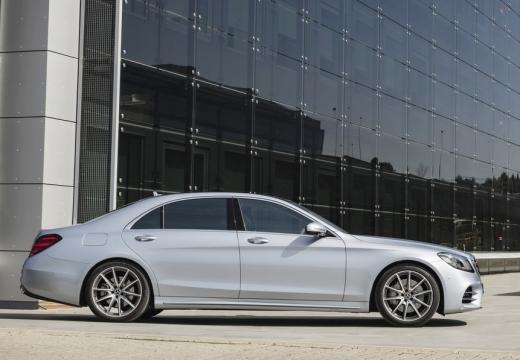 MERCEDES-BENZ S Klasa sedan silver grey boczny lewy