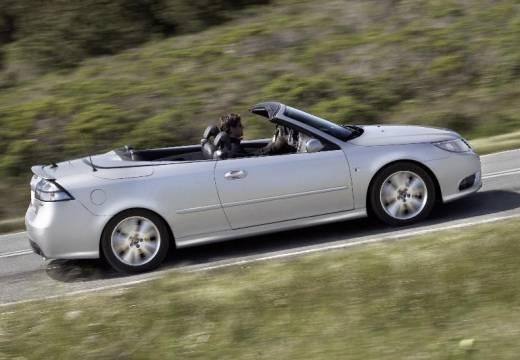 SAAB 9-3 kabriolet silver grey boczny prawy