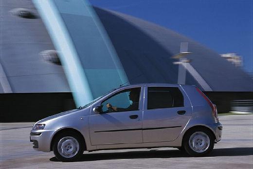 FIAT Punto II I hatchback silver grey boczny lewy
