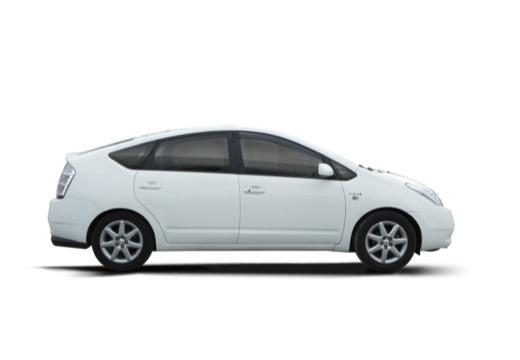 Toyota Prius I hatchback biały boczny prawy