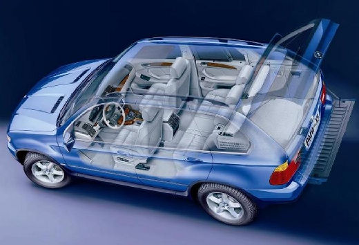 BMW X5 X 5 E53 I kombi niebieski jasny prześwietlenie
