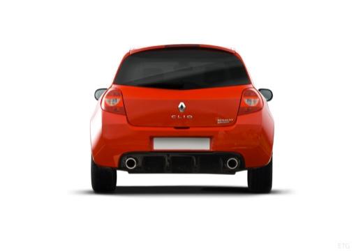 RENAULT Clio III II hatchback czerwony jasny tylny