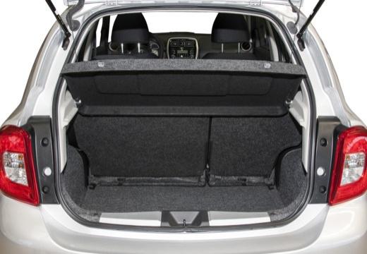 NISSAN Micra IX hatchback przestrzeń załadunkowa