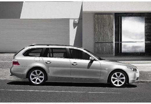 BMW Seria 5 Touring E61 I kombi silver grey boczny prawy