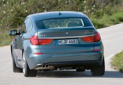 BMW Seria 5 Gran Turismo hatchback niebieski jasny tylny lewy