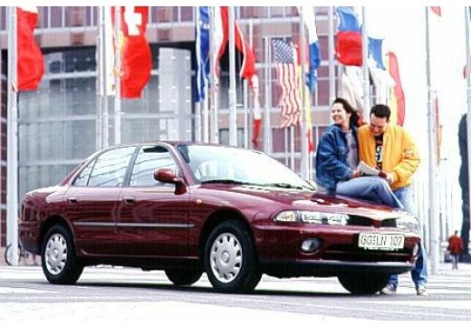 MITSUBISHI Galant III sedan bordeaux (czerwony ciemny) przedni prawy