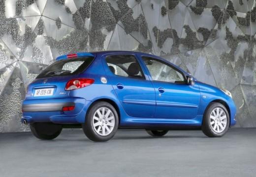 PEUGEOT 206+ hatchback niebieski jasny tylny prawy