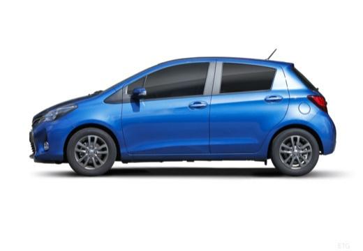 Toyota Yaris VI hatchback niebieski jasny boczny lewy