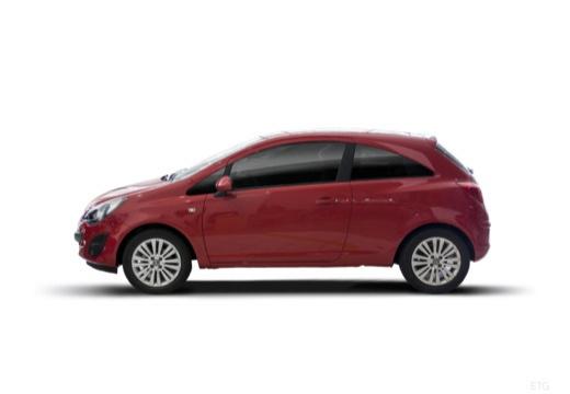 OPEL Corsa D II hatchback czerwony jasny boczny lewy