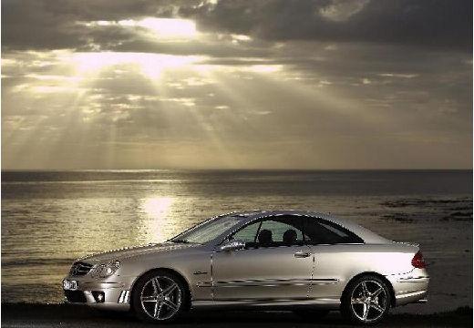 MERCEDES-BENZ Klasa CLK coupe silver grey boczny lewy