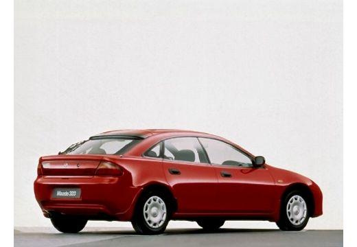 MAZDA 323 hatchback czerwony jasny tylny prawy