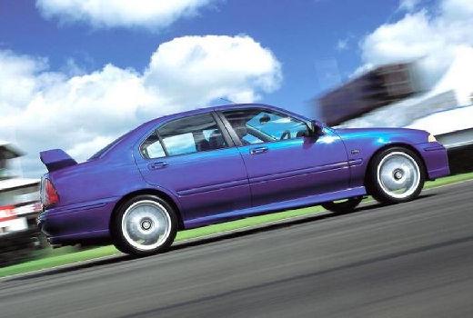 MG ZS sedan niebieski jasny boczny prawy