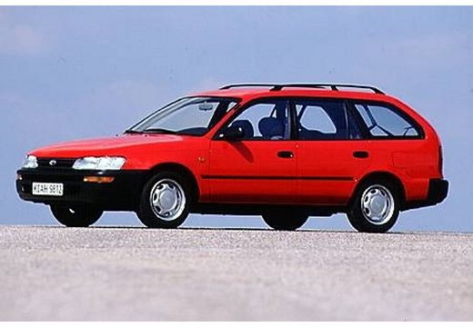 Toyota Corolla kombi czerwony jasny przedni lewy