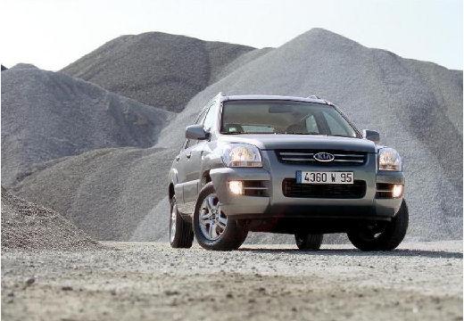 KIA Sportage II kombi silver grey przedni prawy