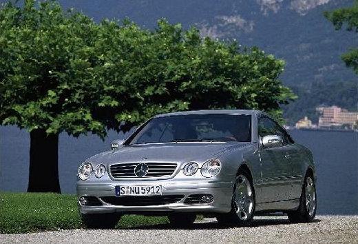 MERCEDES-BENZ Klasa CL coupe silver grey przedni lewy