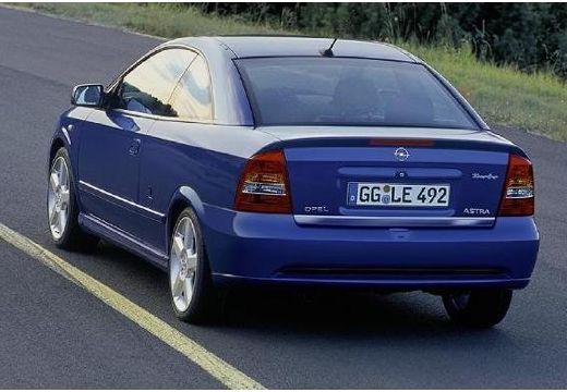 OPEL Astra coupe niebieski jasny tylny lewy