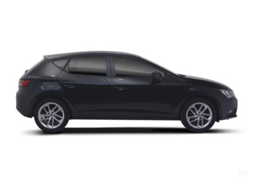 SEAT Leon IV hatchback czarny boczny prawy
