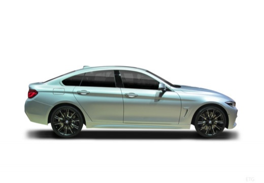 BMW Seria 4 Gran Coupe F36 II hatchback boczny prawy
