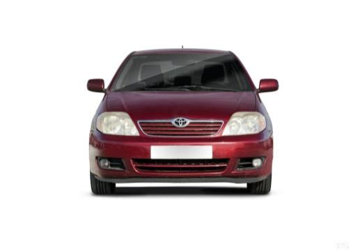 Toyota Corolla VII sedan czerwony jasny przedni