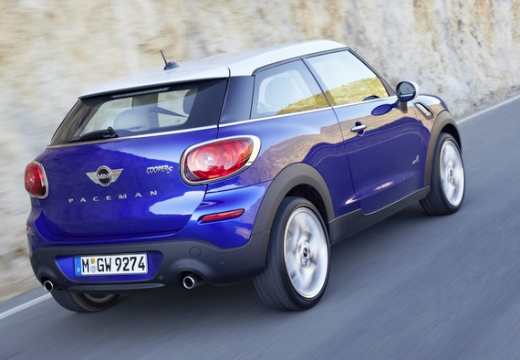 MINI [BMW] Paceman hatchback niebieski jasny tylny prawy