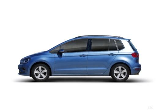 VOLKSWAGEN Golf VII Sportsvan I hatchback niebieski jasny boczny lewy