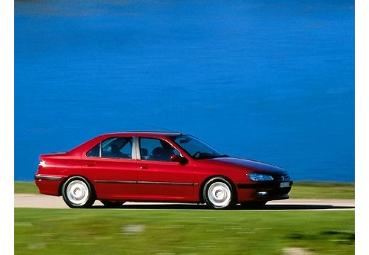 PEUGEOT 406 II sedan bordeaux (czerwony ciemny) boczny prawy