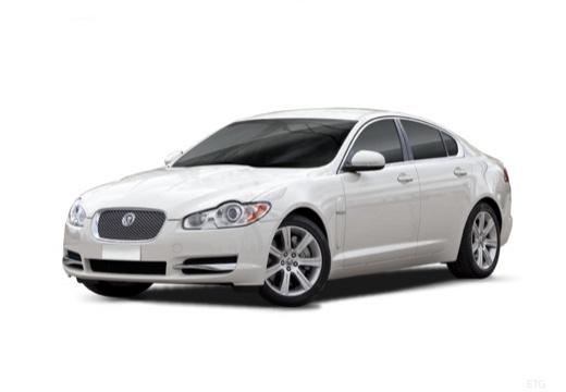 JAGUAR XF I sedan biały przedni lewy