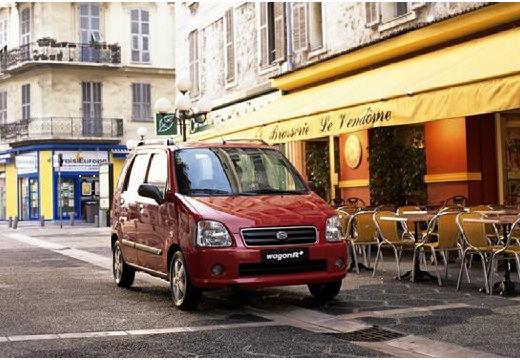 SUZUKI Wagon R+ II hatchback czerwony jasny przedni prawy