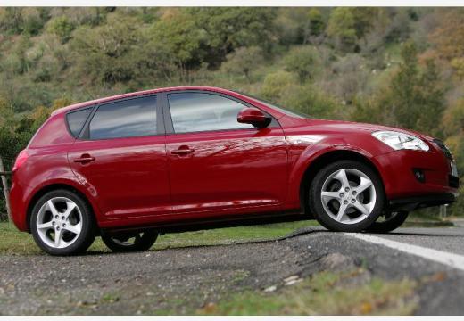 KIA Ceed I hatchback czerwony jasny boczny prawy