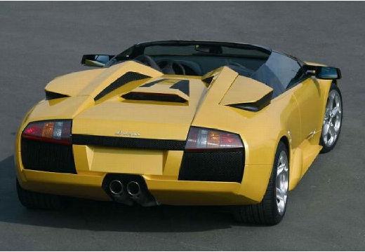 LAMBORGHINI Murcielago roadster żółty tylny prawy