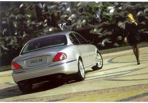 JAGUAR X-Type I sedan silver grey tylny prawy