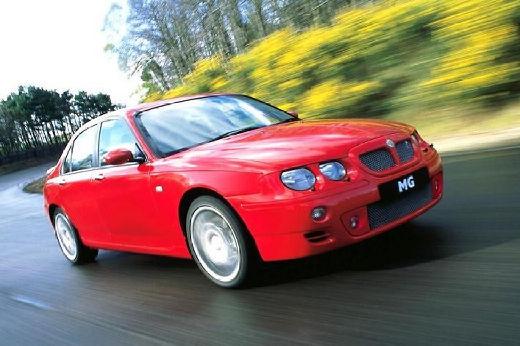 MG ZT sedan czerwony jasny przedni prawy
