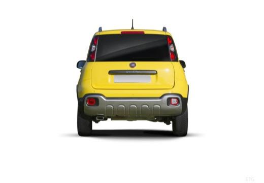 FIAT Panda III hatchback żółty tylny