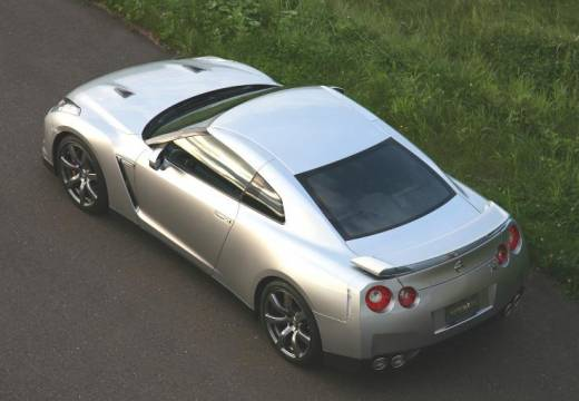 NISSAN GT-R I coupe silver grey tylny lewy