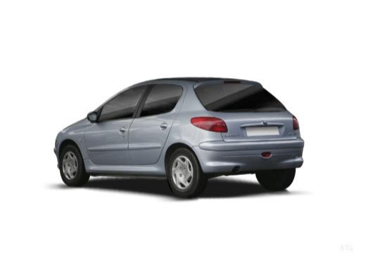 PEUGEOT 206 II hatchback tylny lewy