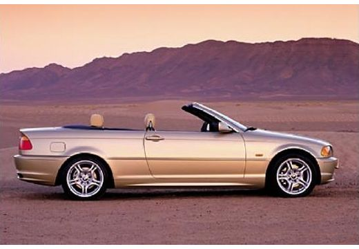 BMW Seria 3 kabriolet złoty boczny prawy
