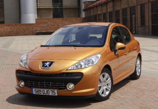 PEUGEOT 207 I hatchback pomarańczowy przedni lewy